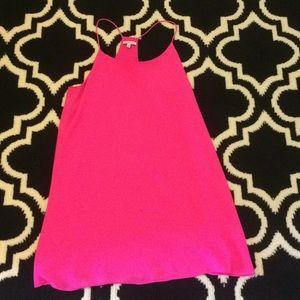 Preppy summer hot pink dress!